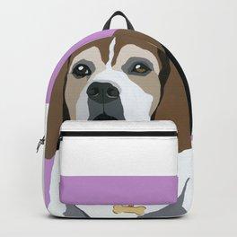 Seamus on pink Backpack