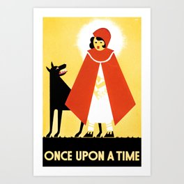 Once upon a time 4 Art Print