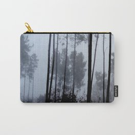 Fog and Forest III-wood,mist,romantic, greenery,sunset,dawn,Landes forest,fantasy Carry-All Pouch