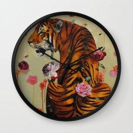 Rosey Tiger Wall Clock