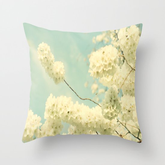 The Blossom and the Bee Throw Pillow