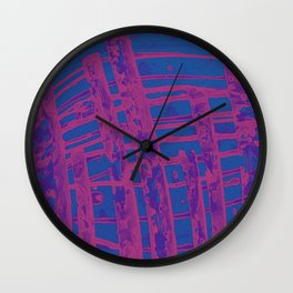 Pink Paint Lines Wall Clock