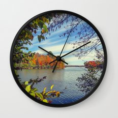 Autumn Peek-a-Boo Wall Clock