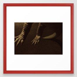 Alligator Claws Framed Art Print