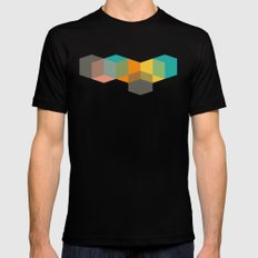 Color Study Cubes Black MEDIUM Mens Fitted Tee