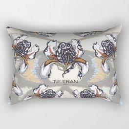 T.F TRAN MULTICOLOUR BUTTERFLY IRIS Rectangular Pillow