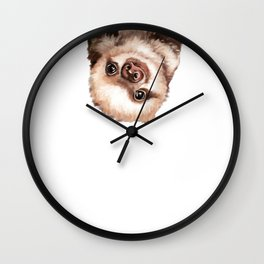 Baby Sloth Wall Clock