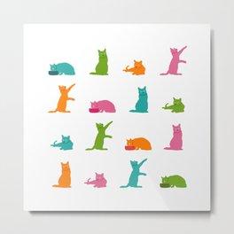 Cats Multicolor Metal Print
