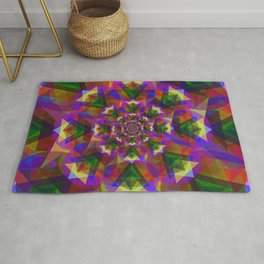 Sri Yantra Glass Rug