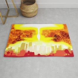 Atomic Bomb Heat Background Rug