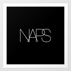 Naps Cosmetic Chic Black Typography Art Print