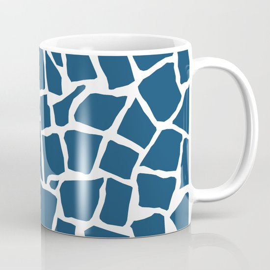 Mosaic Zoom Navy Coffee Mug