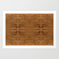 Wrinkled Leather Texture Art Print