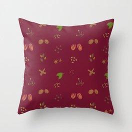 Scarlet Garam Masala Pattern Throw Pillow