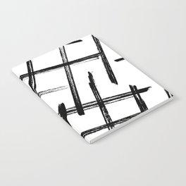 Criss Cross B+W Print Notebook