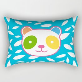 Rainbow Panda Rectangular Pillow