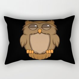 Cute sleeping owl Rectangular Pillow