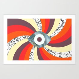 Hypno Retro Eye Art Print