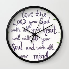 The Greatest Commandment Wall Clock