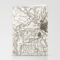 dallas Stationery Cards featuring Dallas Map by Zeke Tucker