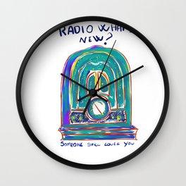 Radio What's New? Wall Clock