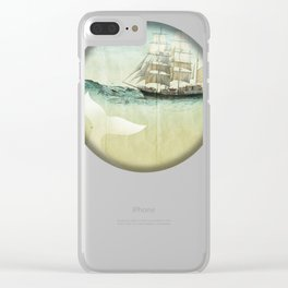 white tail, Moby Dick Clear iPhone Case
