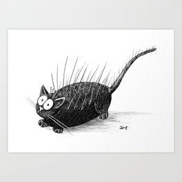 Static Cat Art Print