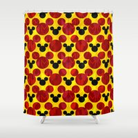 mickey Shower Curtains featuring Mickey Arrows by foreverwars