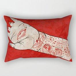 bite the hand. Rectangular Pillow