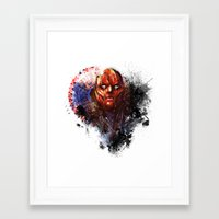 red hood Framed Art Prints featuring Red Hood by Vincent Vernacatola