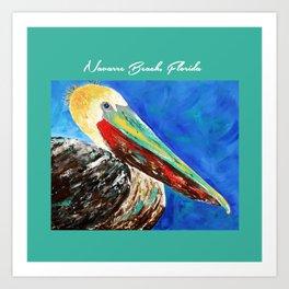 Pelican painting Art Print