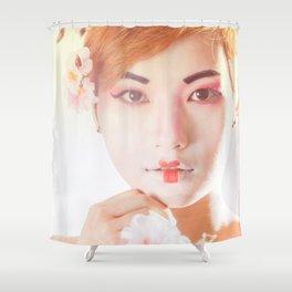 Geisha In Sunlight Shower Curtain