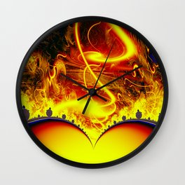 Firestorm from a double sun Wall Clock