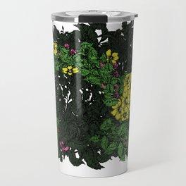 Flowers Excavator Travel Mug