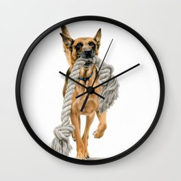 Proud Dog Wall Clock