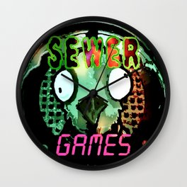 Sewer Games Wall Clock