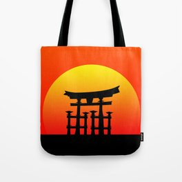 Sunset and Torii in Japan Tote Bag