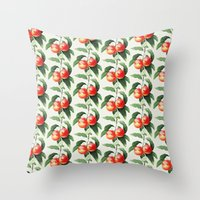 peach Throw Pillows featuring Peach by Grace