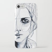 shipping iPhone & iPod Cases featuring Sketch V by Holly Sharpe