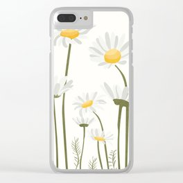 Summer Flowers III Clear iPhone Case