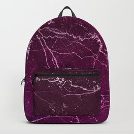 Abstract burgundy white gradient marble Backpack