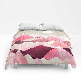 Blush Berry Peaks Comforters