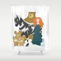merida Shower Curtains featuring Team Merida by Citron Vert