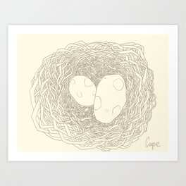 Who Egg ?  Art Print