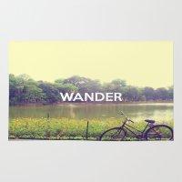 wander Area & Throw Rugs featuring Wander by bajitamaria
