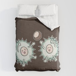 Kawaii Cute Horse Chestnut Playing Comforters