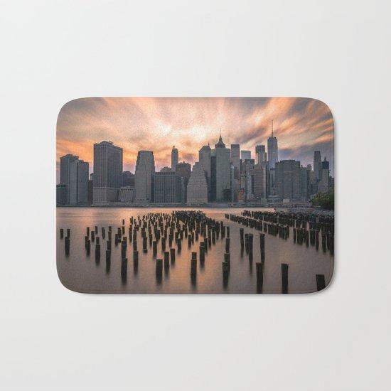 New york city long exposure Bath Mat
