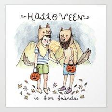 Halloween Friends Art Print