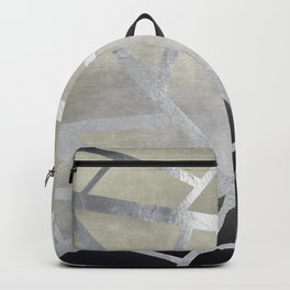 Textured Metal Geometric Gradient With Silver Backpack