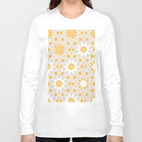 pivot Long Sleeve T-shirts featuring Pivot Star Pattern  by Pivot Interiors
